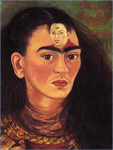 Frida's painting titled, Diego on my Mind
